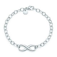 Tiffany & Co. -  Tiffany Infinity bracelet in sterling silver.