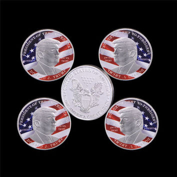 American 45th President Donald Trump Silver Coin US Coin Collection Hot Sale