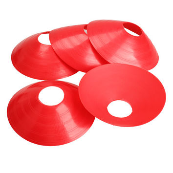 Outdoor PE 5 Color 5pcs 18cm Cone Marker Discs Soccer Football Training Sports Cone Saucer H1E1