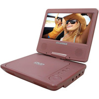 Sylvania SDVD7014 Portable DVD Player 7 Swivel Widescreen Display Pink