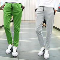 Winter Casual Pants Men's Fashion Slim Knit Skinny Pants [6541434243]
