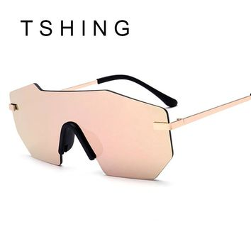 Hot Oversized Rimless Sunglasses