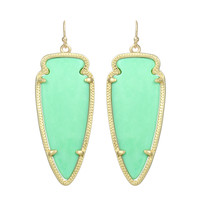 Kendra Scott Skylar Drop Earrings Chalcedony