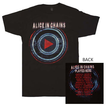 Alice in Chains Played Here Tour T-Shirt - Black - Small