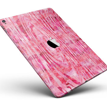 "Pink Watercolor Woodgrain Full Body Skin for the iPad Pro (12.9"" or 9.7"" available)"