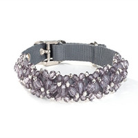 FabuLeash Beaded Dog Collar - Black Diamond