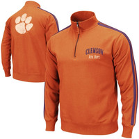 Clemson Tigers Pioneer Quarter Zip Fleece Sweatshirt - Orange