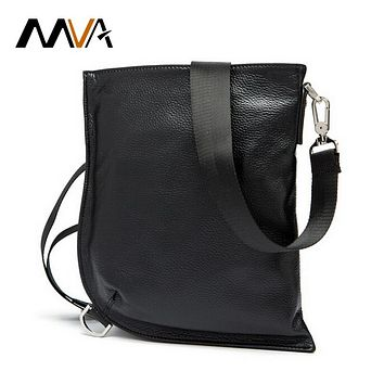 Genuine Leather Men Bag Messenger Bag Men Leather Shoulder Bags Ipad Pouch Flap Male Chest Pack Crossbody Bags