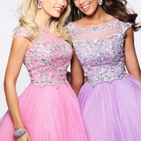 Sherri Hill 21032 Pink Cocktail Dress