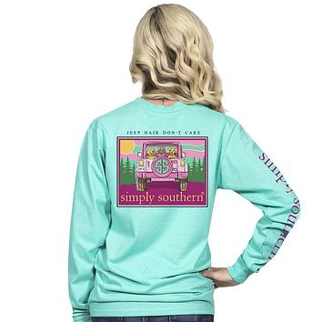 "Simply Southern ""Jeep Hair"" Long Sleeve Tee"