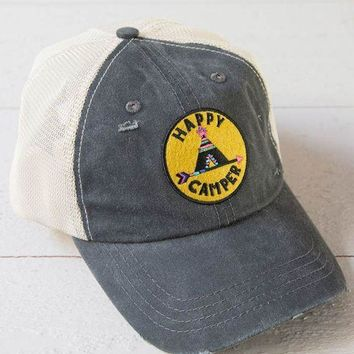 Happy Camper Hang Out Hat (grey)