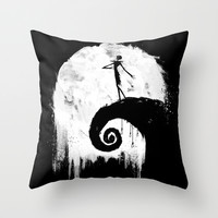 All Hallow's Eve Throw Pillow by Melissa Smith