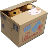 Itazura Cat Coin Bank -- Tiger Cat