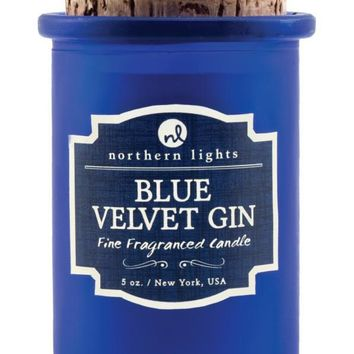 Blue Velvet Gin Spirit Candle