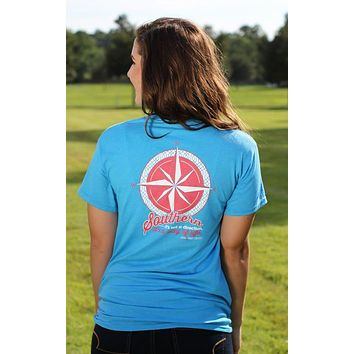 Southern Darlin Compass Southern Way of Life Country Bright Girlie T-Shirt