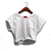 Jodi-Ann Crop Top Sweatshirt (White)