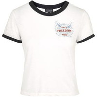 Freedom Burnout Tee - White
