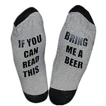 If You Can Read This Bring Me A Beer - Drinking Socks