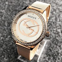 GUCCI Trending Woman Men Stylish Diamond Watch Business Watches Wrist Watch