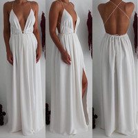 White Catalina Maxi Dress
