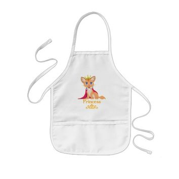 Princess Kitten Kids' Apron