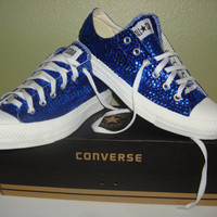 Something Blue Sequin Chuck Taylors by NEWBRIDENTOWN on Etsy