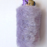 SALE Cute Bic Lighter Case, Clueless, 90s Club Kid, Kawaii Lighter Cover, Faux Fur