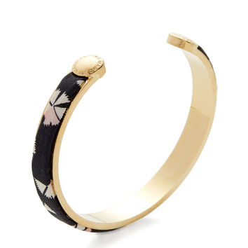 Marc by Marc Jacobs Jewelry Women's Printed Fabric & Gold Cuff Bracelet