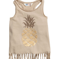 H&M Fringed Tank Top $4.95