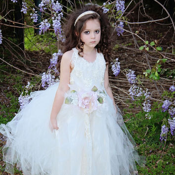 Flower Girl Tutu Dress-Bridal-Cadence