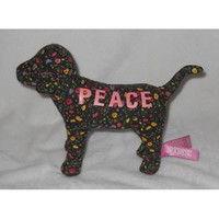 Victoria's Secret Pink PEACE Floral Black Dog