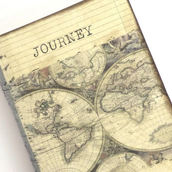 Travel journal world map journal cahier from istria design travel journal world map journal cahier moleskine travel notebook journey old gumiabroncs Choice Image