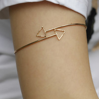 5018 2015 New Arm Cuff Simple Gold/Silver Triangle Alloy Armlet  Bracelet Body Jewelry For Women