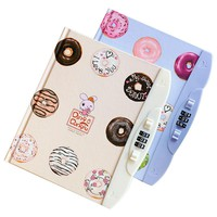 Creative Kawaii Notebook With Lock Code Personal Diary Memo Agenda Planner Private Secret Book Gift Stationery School Supplies