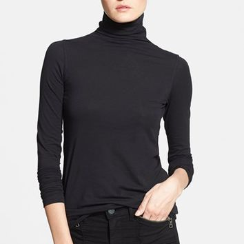 Women's Vince 'Favorite' Soft Cotton Turtleneck,