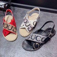 GUCCI Women Fashion Diamonds Sandals Flats Shoes