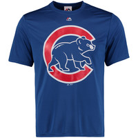 Men's Chicago Cubs Majestic Royal Synthetic Official Logo T-Shirt