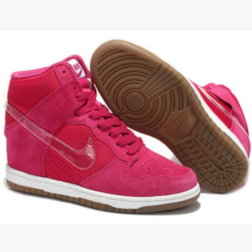 NIKE Hidden Heel Charm High Boots Height Increasing Women Sneakers Shoes Roses hook