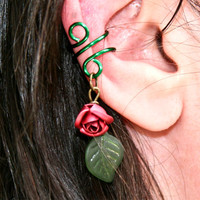 Whispered Rose Ear Cuff