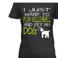 WANT TO PLAY VOLLEYBALL & PET MY DOG