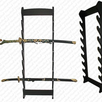 Deluxe Wall Hanging Sword Display - Holds 8 Swords