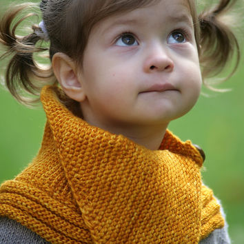 LAURA COWL knitting pattern - baby toddler child adult - fall fashion  - reversible