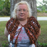 Handmade Crocheted Ribbon shawl by CanadianCraftCritter on Etsy