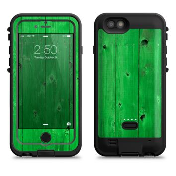 The Green Highlighted Wooden Planks  iPhone 6/6s Plus LifeProof Fre POWER Case Skin Kit