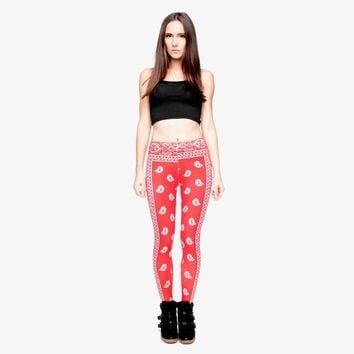 Red Bandana Leggings