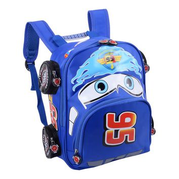 Hot Sale Cartoon Car Backpack Children School Bags kids Book Bag Baby Toddler Kindergarten Boys Girls Backpacking Rucksack