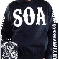 Sons Of Anarchy Pullover Hoodie - SOA Navy