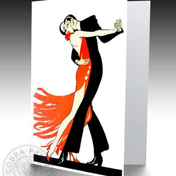 "Vintage Tango - 4""x6"" - Digital Sheet CP-230 - Print It Yourself - Wall Decor - Iron On Transfer"