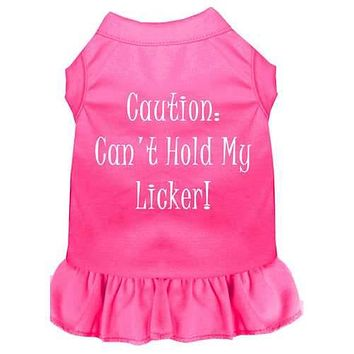 Can't Hold My Licker Screen Print Dress Bright Pink 4X (22)