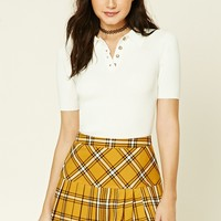 Tartan Plaid Pleated Mini Skirt